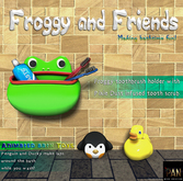 *PAN* Froggy and Friends Bath Set