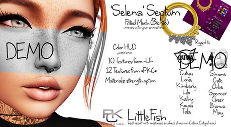 ~LF~ Selena Septum DEMO -Catwa/Lelutka Bento- *PKC*