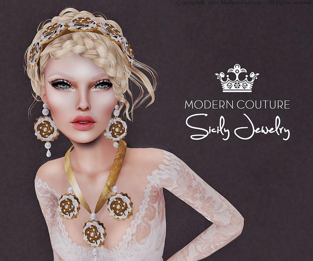 [Modern.Couture] Jewelry - Sicily White Tiara