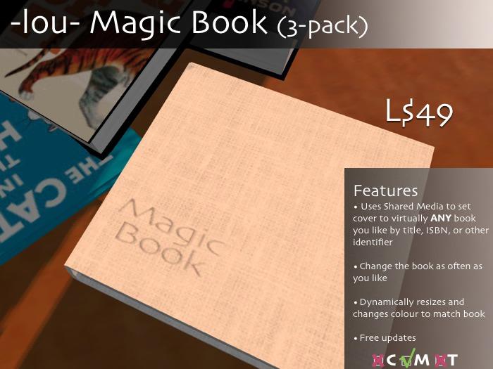 -lou- Magic Book (three-pack)