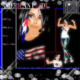 T-SQ~AMERICAN PRIDE~ Old Flag Jeans & top Set w/Hair Feathers*Perfect for the 4th of July! July 4th