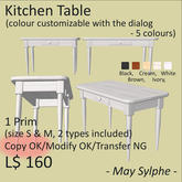 - May Sylphe - Kitchen Table
