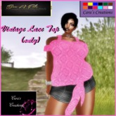 {CARA'S CREATION LACE TOP }2AG