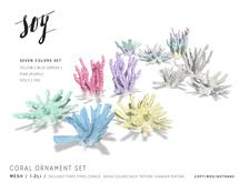 Soy. Coral Ornament Set [addme]