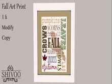 .::. SHIVOO ::. Fall Art - Print 3