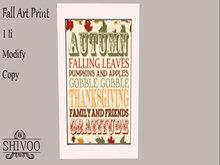 .::. SHIVOO ::. Fall Art - Print 7