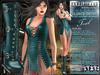 Bella Moda: Chetare Teal Dress & Boots Outfit: Maitreya/Classic/Physique/Hourglass/Isis/Venus/Freya+Std
