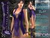 Bella Moda: Chetare Violet Dress & Boots Outfit: Maitreya/Classic/Physique/Hourglass/Isis/Venus/Freya+Std