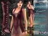 Bella Moda: Chetare Crimson Dress & Boots Outfit Maitreya/Classic/Physique/Hourglass/Isis/Venus/Freya+Std