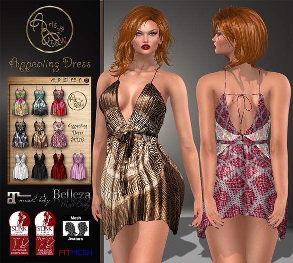 ***ArisArisB&W~Appealing Dress~Hud texture