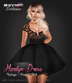 BLACK HAUS - Marilyn Dress Black w/ appliers SLINK, MAITREYA, OMEGA