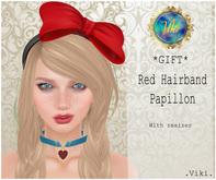 .Viki. *GIFT* Red Hairband Papillon