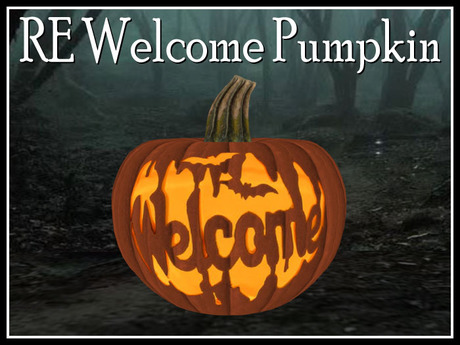 RE Welcome Pumpkin - Fun Halloween Decoration