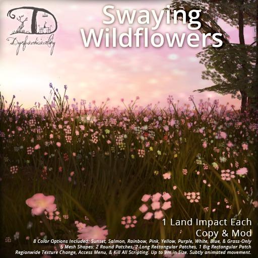[DDD] Swaying Wildflowers - Animated, Low Prim, Tex. Change!