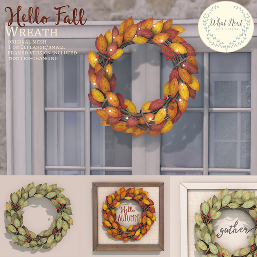 Second Life Marketplace What Next Hello Fall Wreaths