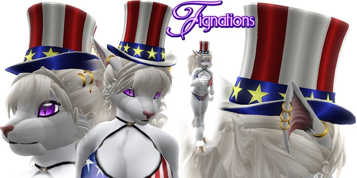 *Fig* Uncle Sam Top Hat  with 1 Pose and 2 Gestures
