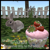 Strawberry Cupcake for Ozimals bunnies