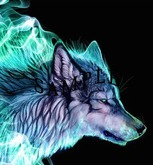Electric Wolf Painting