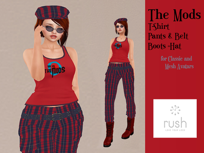 RUSH THE MODS Outfit Red Tartan Pack