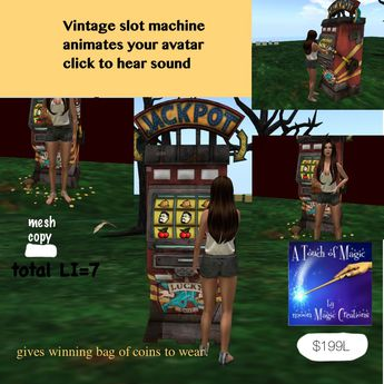 ***Vintage slot Machine with animation & sound-Crate