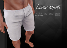 {Fe Style} Ivanov Shorts - White [Box]