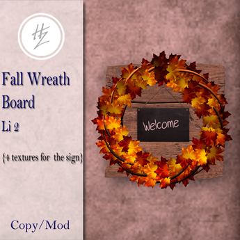 .::Hazeel::. Fall Wreath Board