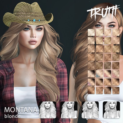 TRUTH Montana (Fitted Mesh Hair) - Blonde