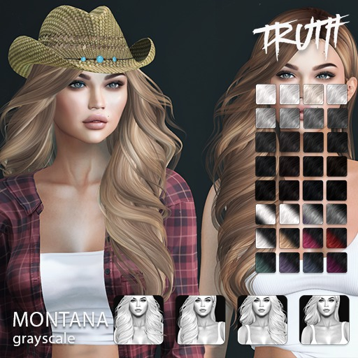 TRUTH Montana (Fitted Mesh Hair) - Grayscale