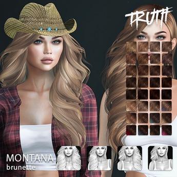 TRUTH Montana (Fitted Mesh Hair) - Brunette
