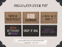 [Brixley] halloween doormats