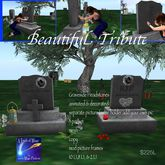 Graveside Headstones animated Beautiful Tribute