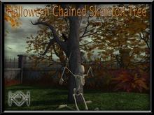 KHARGO HALLOWEEN CHAINED SKELETON TREE