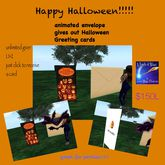 Happy Halloween animated envelope card giver