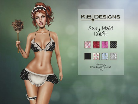 KiB Designs - Sexy Maid Outfit FATPACK