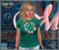 .::MD::. Equis T-shirt Teal - Slink, Maitreya, Belleza, Tonic, TMP, Ebody, Fitmesh, standard sizes