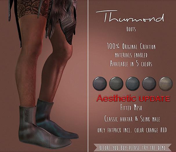 {TWS} - Thurmond Boots [Reddish] Slink Physique Male, Aesthetic, Classic Avatar