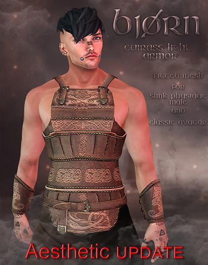 {TWS} - Bjoern Cuirass Armor - Slink Physique Male - Aesthetic - Classic Avatar