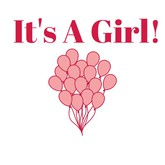 It's A Girl - Decal