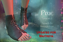 {TWS} - Pixie Sandals | Slink, Belleza, Maitreya