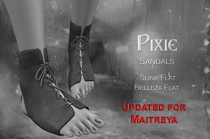 {TWS} - Pixie Sandals [DEMO] - Maitreya, Belleza, Slink