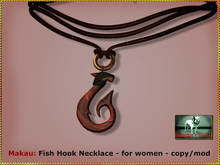 Bliensen + MaiTai - Makau - Fish Hook Necklace for MEN
