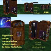 Talking Puppet Trunk Luggage-Crate