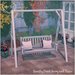 Bramley porch swing frame white
