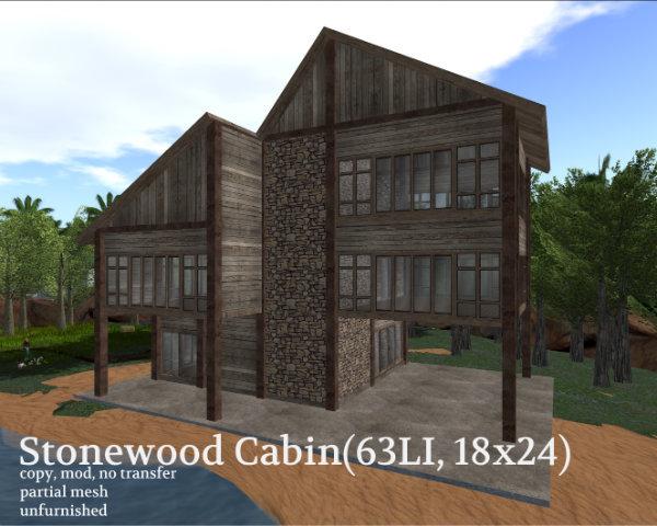 Stonewood Cabin(63LI, 18x24)