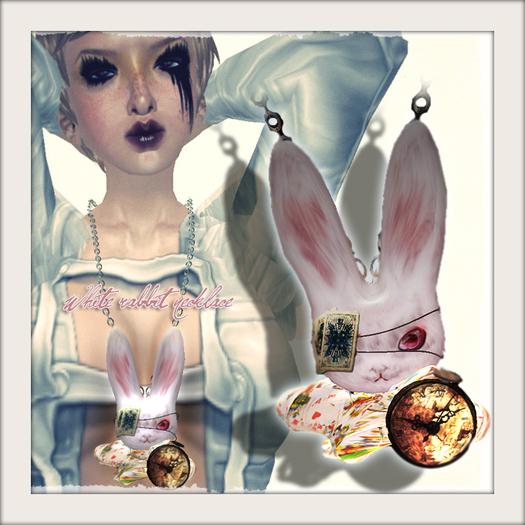 *dg* white rabbit necklace