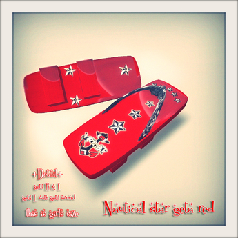 *dg* nautical star geta red