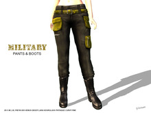 [F] Military Pants & Boots - Gold - Fitmesh