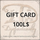 [DDD] Gift Card 100L$ - Usable on over 750 products inworld!