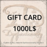 [DDD] Gift Card 1000L$ - Usable on over 750 products inworld!
