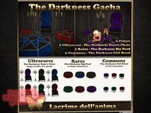 (BOX) The Darkness Girl Stool - Sapphire